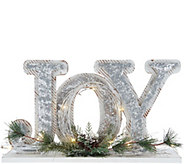 Illuminated Joy Decorative Accent with Timer by Valerie - H211882