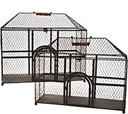 Set of 2 Wire Decorative Chicken Coops by Valerie - H214482