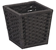 Household Essentials Black Paper RopeWastebasket - H285082
