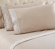 Shavel Micro Flannel Lace Edged Twin Sheet Set - H291582