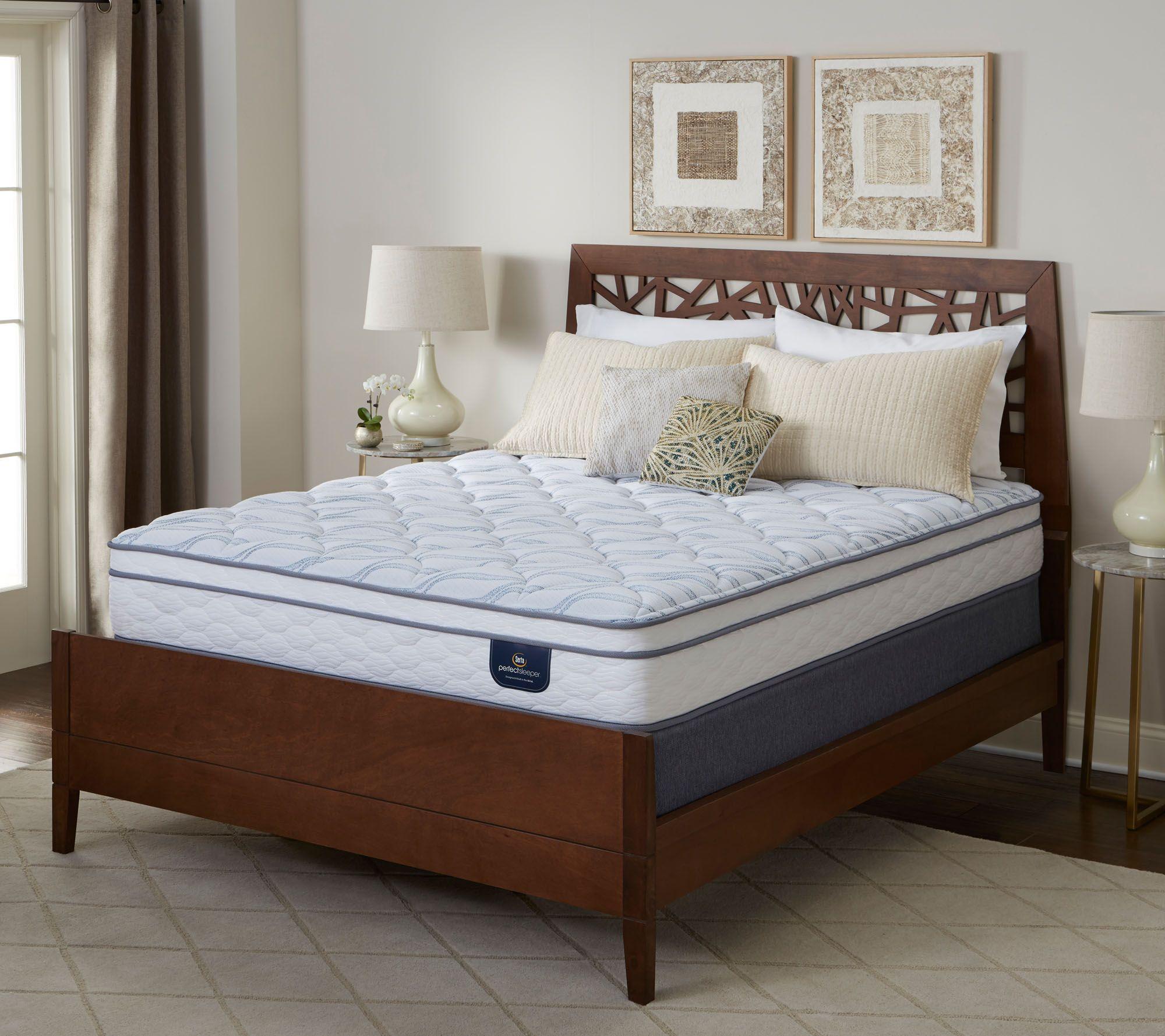 Serta Perfect Sleeper Carmine Euro Top Twin Mattress Set   H291972