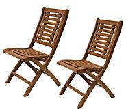 Outdoor Interiors Eucalyptus Folding Chairs, Set of 2 - H295382