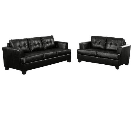 Bonded Leather Sofa Set by Acme Furniture H — QVC