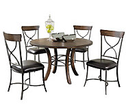 Hillsdale Cameron 5pc Round Dining Set w/X-backChairs - H358782
