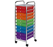 Honey-Can-Do 10-Drawer Multicolor Storage Cart - H367382