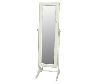 gold silver safekeeper mirrored jewelry cabinet by lori