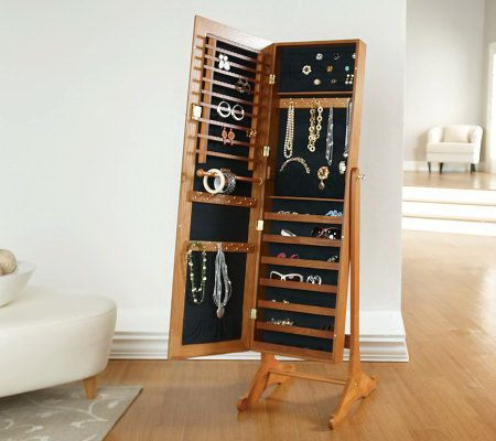 Product image of Gold & Silver Safekeeper Mirrored Jewelry Cabinet by Lori Greiner