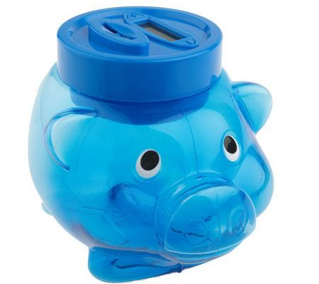 Digital coin counting piggy bank with plus minus control page 1 - Counting piggy bank ...
