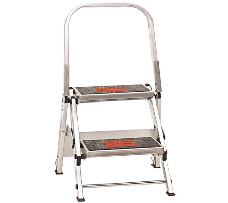Little Giant Safety 2 Step Ladder 300 Lb Capacity Qvc Com