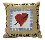 Copa Judaica &quotYes, But Is He Jewish?&quot Decorative Pillow - H144883