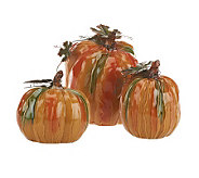 3-piece Traditional Ceramic Pumpkins by Valerie - H197283