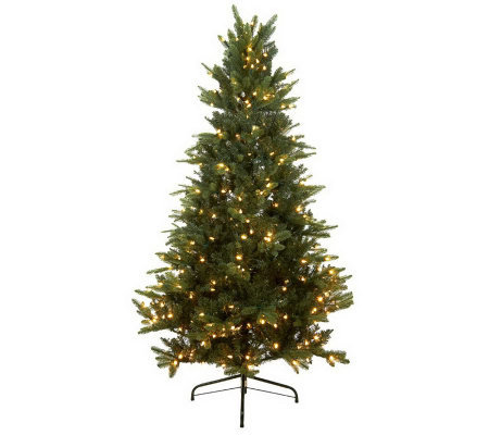 Santa's Best 6.5' BlueSpruce LED Tree with Retro Bulbs and 5 Year LMW