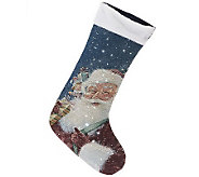 Kringle Express Fiber Optic Illuminated Christmas Stocking - H200983