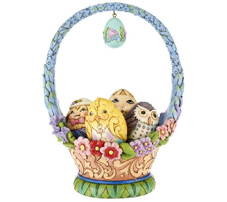 Jim shore heartwood creek 10th annual easter basket page 1 qvc negle Choice Image