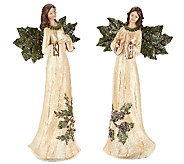 2-piece Sugared Holly Angels by Valerie - H203883