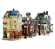 7-piece Illuminated Victorian Village by Valerie - H205283
