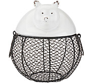 ED On Air Ceramic & Wire Animal Figural Basket by Ellen DeGeneres - H205783