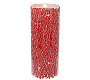 As Is Solare Mosaic 8 Flameless Candle with Multi-Hue Flame - H207483