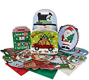 55 Piece Cheerful Holiday Gift Wrap Set - H209283