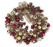 22 Red & Gold Vintage Ornament Wreath - H209583