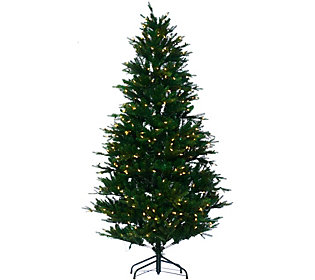 As Is Santa's Best 7.5' RGB 2.0 Green Balsam Fir Christmas Tree