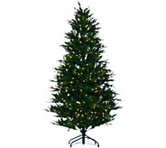 As Is Santas Best 7.5 RGB 2.0 Green Balsam Fir Christmas Tree - H210283