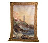 As Is Thomas Kincade Clearing The Storms Wall Tapestry w/Rod - H210783