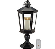 Luminara 17 Windsor Lantern with Pedestal & Flameless Candle - H210883