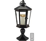 Luminara 17 Windsor Lantern with Pedestal & Flameless Candle - H210883