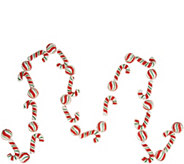 6 Beaded Candy Cane and Peppermint Garland by Valerie - H211583