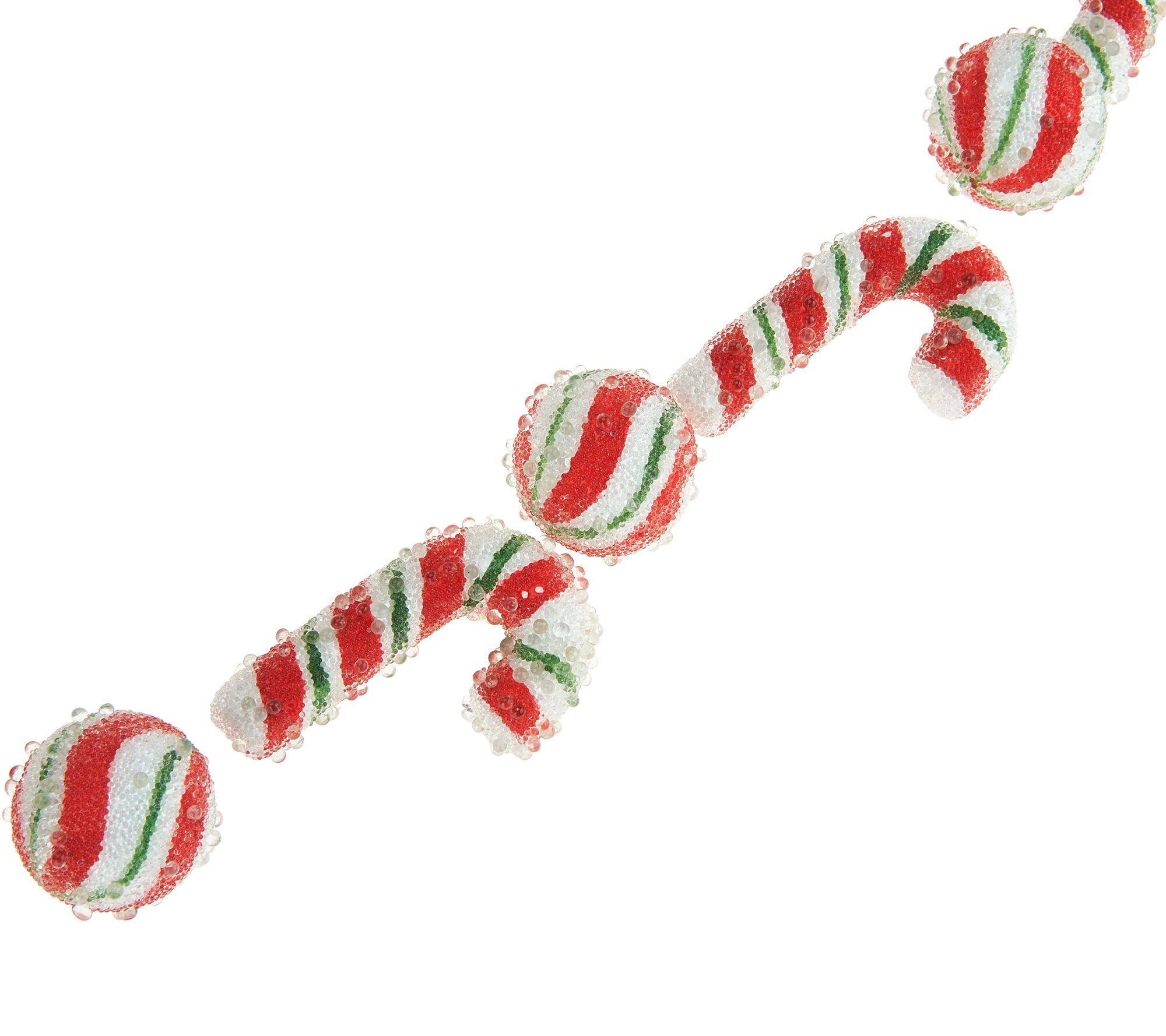 6 u0027 beaded candy cane and peppermint garland by valerie page 1