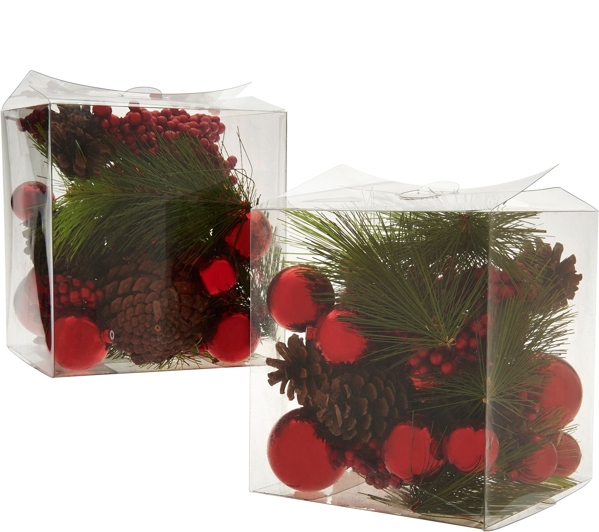 How to make a lighted christmas box decoration - Set Of 2 Decorative Mixed Filler Boxes By Valerie H211883