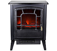 Warm House Bern Retro Style Floor-Standing Electric Fireplace - H281883