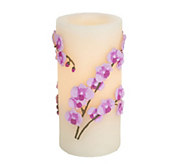 Candle Impressions 7 Embossed Orchid Flameless Candle - H286383