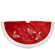 48 Embroidered Poinsettia Tree Skirt by Northlight - H286883