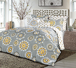 Adrianne Comforters 7-Piece King Set by LushDecor