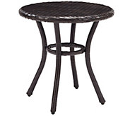 Palm Harbor Outdoor Wicker Round Side Table - H288583