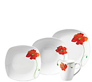 Tabletops Gallery 16-Pc Poppy Soft-Square Dinnerware Set - H289183