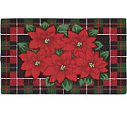 Nourison Enhance 17 x 28 Christmas PoinsettiaRug - H293083