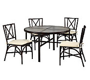 Home Styles Outdoor Bimini Jim 5-Piece 48 Dining Set - H367883
