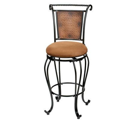 Hillsdale Furniture Milan Swivel Bar Stool H142384 Qvc Com