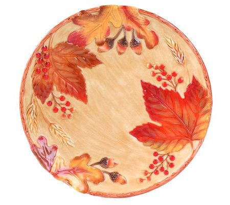 Fitz and floyd harvest canape plate for Linea carta canape plates