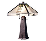 Tiffany Style 23H Pasadena Rose Table Lamp - H181284