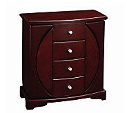 Mele & Co. Simone Mahogany Finish Upright Jewelry Box - H183484