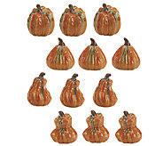 12-piece Mini Ceramic Pumpkin Set by Valerie - H197284