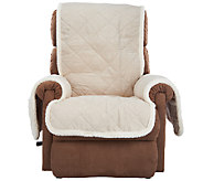Sure Fit Reversible Faux Suede/Sherpa Recliner Furniture Cover - H203784
