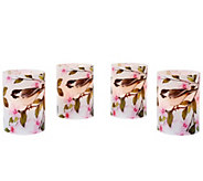 Set of 4 Flameless Candle Votives by Valerie - H204884