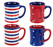 Temp-tations S/4 16 oz. Red, White, & Blue Mugs - H204984