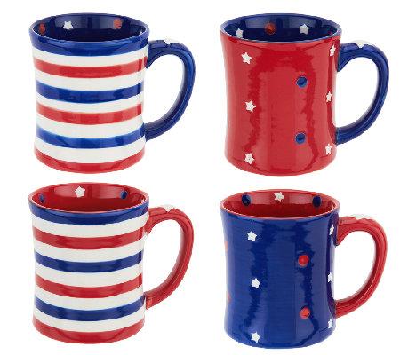 Temp-tations S/4 16 oz. Red, White, & Blue Mugs