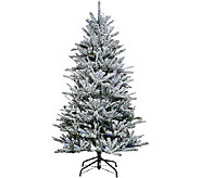 Santas Best 6.5 Snow Flurry Tree with 7 Function LED Lights - H205684